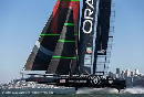 We had an excellent time. It was an awful race! (America's cup completition)