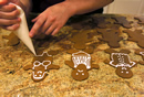 making ginger bread cookies