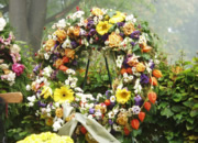 floral funeral wreath