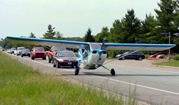 plane on highway