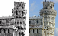 Pisa before and after